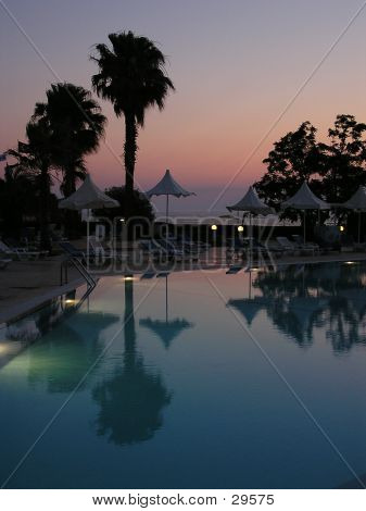 Swimming Pool At Sunset 2