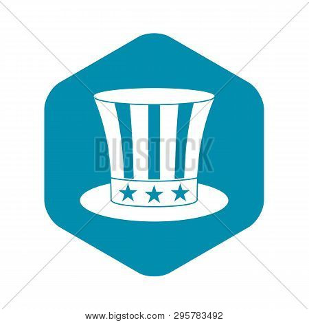 Uncle Sam Hat Icon. Simple Illustration Of Uncle Sam Hat Vector Icon For Web