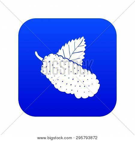 Mulberry Icon Blue Vector Isolated On White Background
