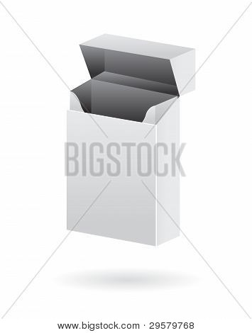 blank cigarette pack isolated