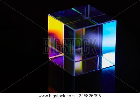 Glass Cubes And Reflections - Abstract Dark Photo