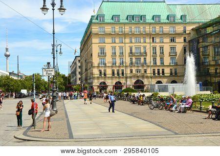 Berlin, Germany - June 21, 2017: Pariser Platz Square Berlin, Germany