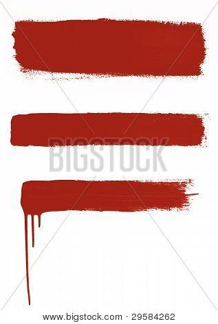 3 Red Brushstrokes