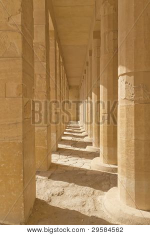 A Colonnade At The Temple Of Queen Hatshepsut  (egypt )