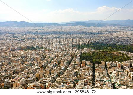 Panoramic View Of Athens City In Greece