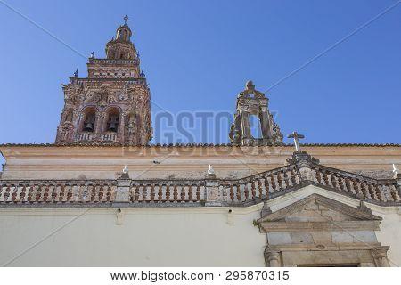 Church Of San Bartolome At Jerez De Los Caballeros, Badajoz, Spain. Side Entrance