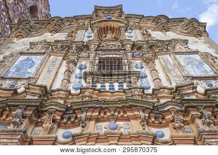 Church Of San Bartolome At Jerez De Los Caballeros, Badajoz, Spain. Main Facade