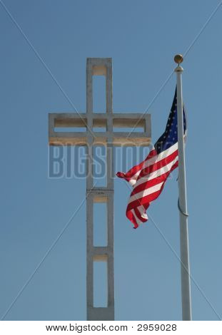 Cross And Flag
