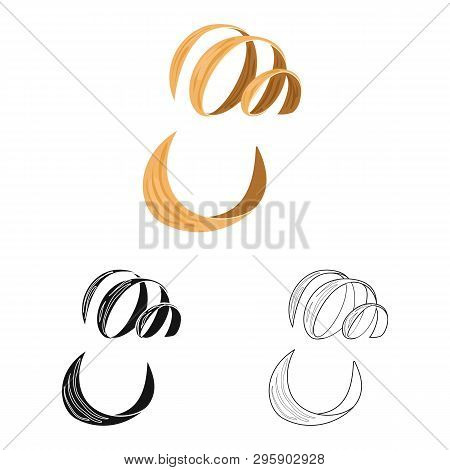 Vector Design Of Timber And Sawdust Icon. Set Of Timber And Cut Stock Vector Illustration.