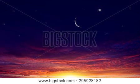 Cloudy Landscape . Dawn Of The Sun .  Light From Sky . Religion Background . Beautiful Cloud . Backg