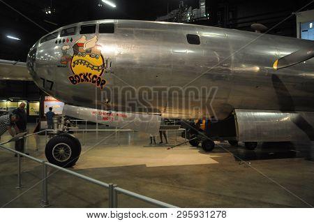 May 30, 2016, Dayton, Oh B-29 Superfortress Bockscar That Dropped The Atomic Bomb On Nagasaki On Dis