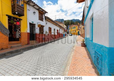 Bogota,  Colombia   March 31  This Small District Named La Candelaria  In The Historic Center Of Bog