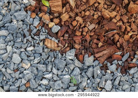 Small Pebbles And Coconut Coir For Planting Preparation In Home Garden
