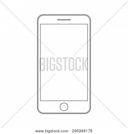 Smartphone Or Mobile Phone Iphone Outline Vector Eps10. Smartphone Vector Outline