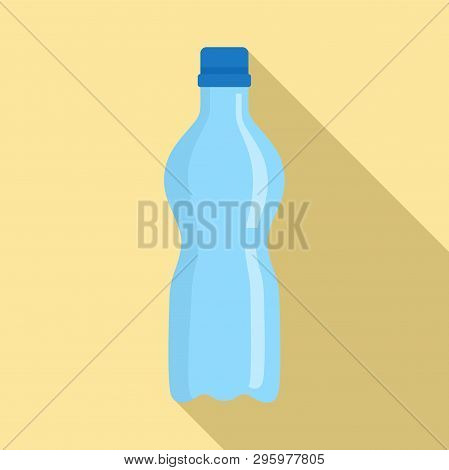 Water Plastic Bottle Icon. Flat Illustration Of Water Plastic Bottle Vector Icon For Web Design