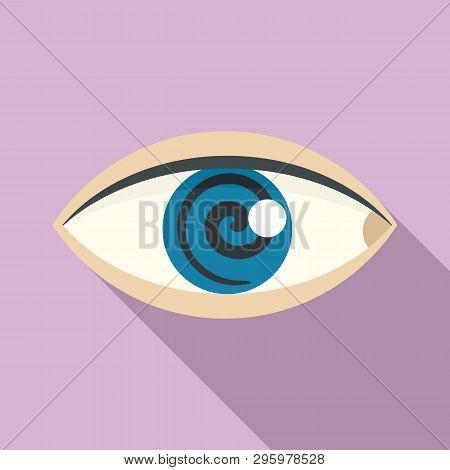 Magic Eye Hypnosis Icon. Flat Illustration Of Magic Eye Hypnosis Vector Icon For Web Design
