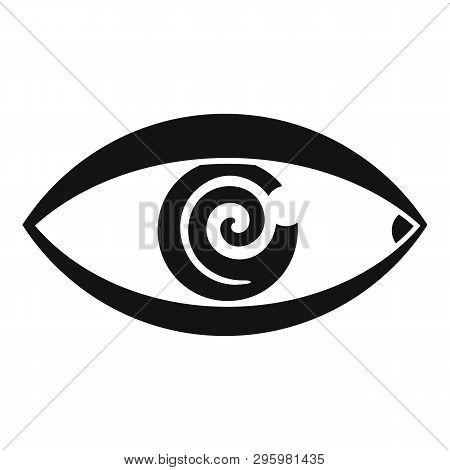 Magic Eye Hypnosis Icon. Simple Illustration Of Magic Eye Hypnosis Vector Icon For Web Design Isolat