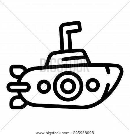 Periscope Submarine Icon. Outline Periscope Submarine Vector Icon For Web Design Isolated On White B