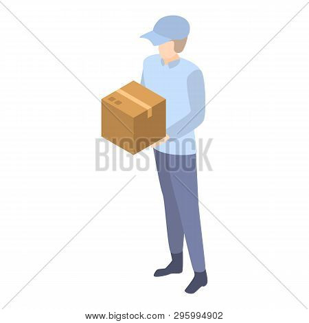 Mailman Delivery Box Icon. Isometric Of Mailman Delivery Box Vector Icon For Web Design Isolated On