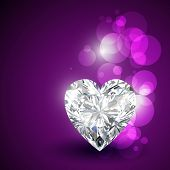beautiful valentine diamond shape hearts poster