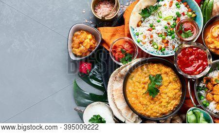 Assortment Indian Recipes Food Various.