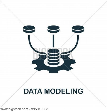 Data Modeling Icon. Simple Element From Website Development Collection. Filled Data Modeling Icon Fo