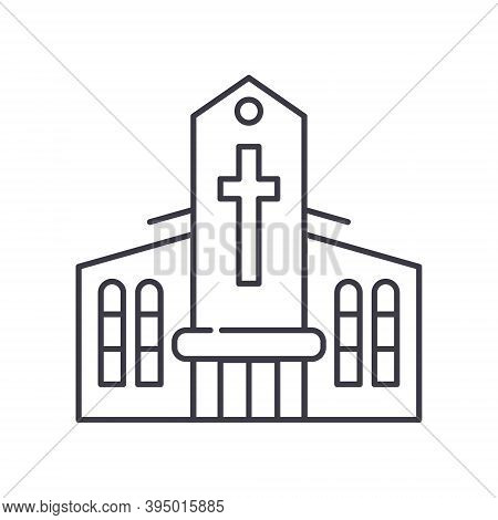 Chapel Icon, Linear Isolated Illustration, Thin Line Vector, Web Design Sign, Outline Concept Symbol