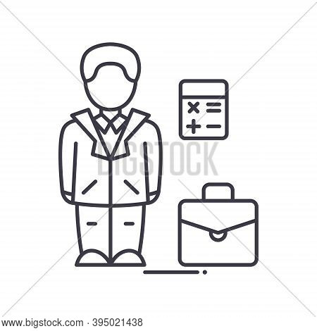 Ceo Businessman Icon, Linear Isolated Illustration, Thin Line Vector, Web Design Sign, Outline Conce
