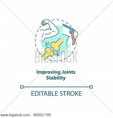 Improve Joint Stability Concept Icon. Body Movement And Position. Health Care. Physiology Treatment.