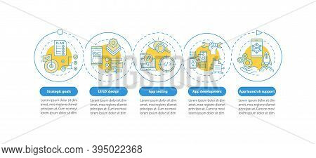 Mobile App Development Process Vector Infographic Template. App Testing Process Presentation Design