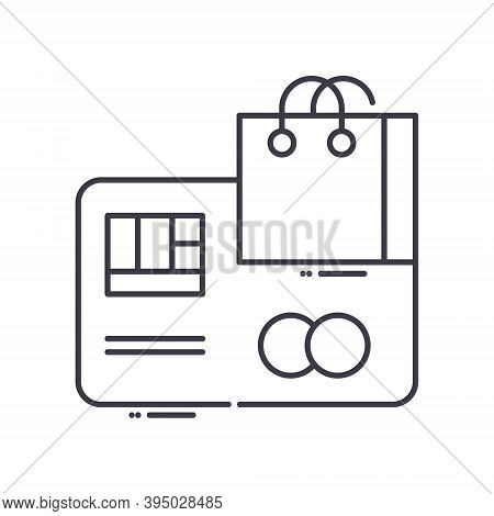 Cashless Concept Icon, Linear Isolated Illustration, Thin Line Vector, Web Design Sign, Outline Conc