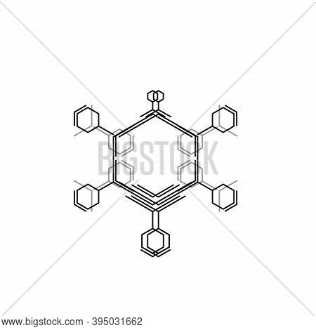 Black Hexagon Modern Style White Background. Digital Modern Communication. Modern Communication Tech