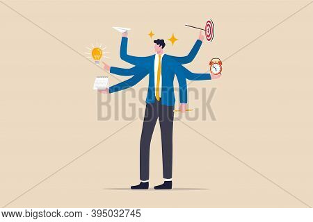Work Productivity And Efficiency, Business Idea, Multitasking And Project Management Concept, Smart