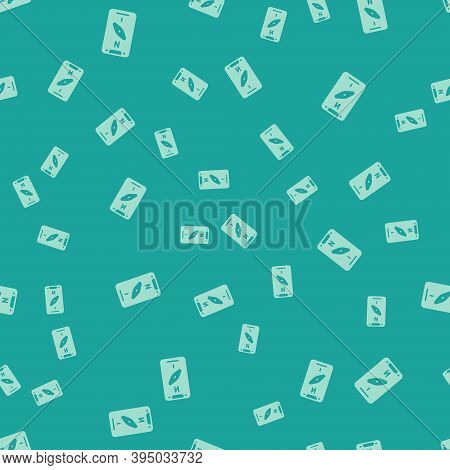 Green Compass Screen Apps On Smartphone For Navigation Icon Isolated Seamless Pattern On Green Backg