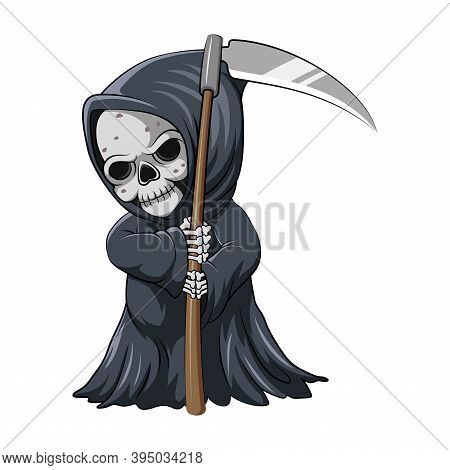 The Cute Grim Reaper Holding The Scythe For The Storybook Inspiration