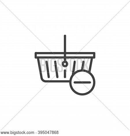 Delete From Shopping Basket Line Icon. Linear Style Sign For Mobile Concept And Web Design. Shopping