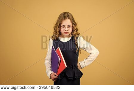 Prepare For Exam. Formal Education And Homeschooling. Check Knowledge. Final Exam Coming. Girl Hold