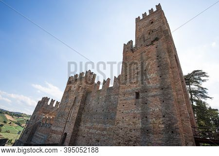 The Castle Of The Medieval Town Of Castell'arquato, Piacenza Province, Emilia Romagna, Italy