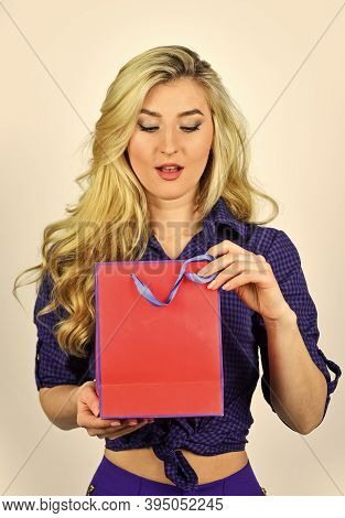 Gifts And Presents Of Any Taste. Shopaholic. Closeout And Bargain Sale In Shop. Cyber Monday Concept