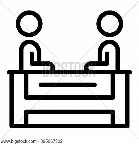 Interest Meeting Icon. Outline Interest Meeting Vector Icon For Web Design Isolated On White Backgro
