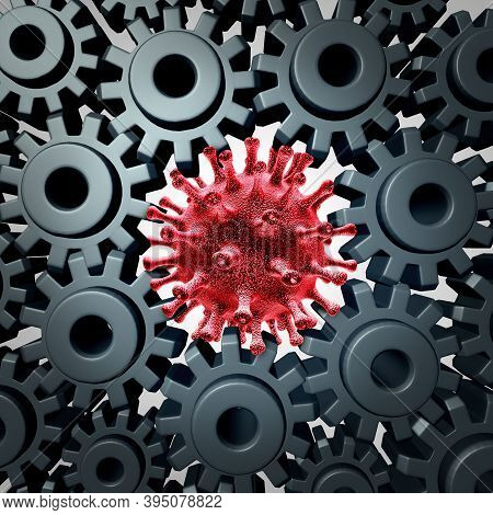 Coronavirus Impact On The Economy And Virus Pandemic Outbreak Business Problem As An Economic Shutdo
