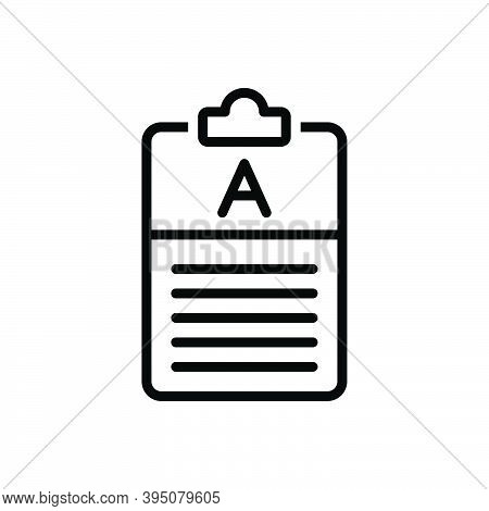 Black Line Icon For Answer Reply Respond Feedback Result Comment Frequently Explanation Text Paper L