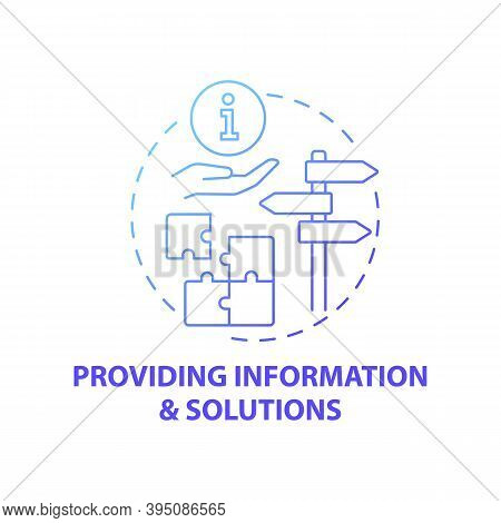 Providing Information And Solutions Concept Icon. Business Consulting Stage Idea Thin Line Illustrat