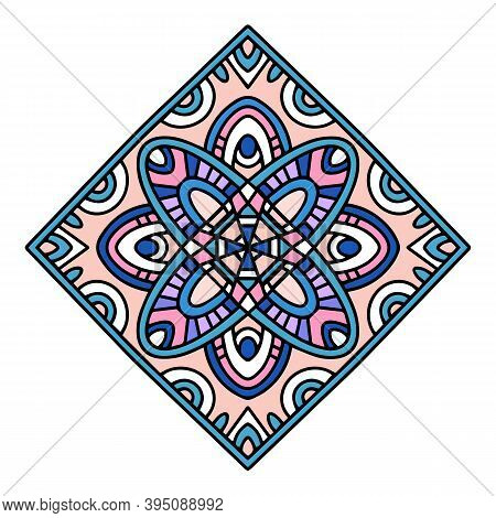 Architectural Islamic Motif Icon. Hand Drawn And Outline Illustration Of Architectural Islamic Motif