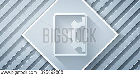 Paper Cut Software, Web Development, Programming Concept Icon Isolated On Grey Background. Programmi