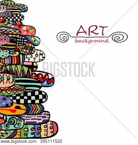 Geometric Design For Paper, Cover, Fabric, Gift Wrap, Wall Art, Interior Decor. Unusual Art Original