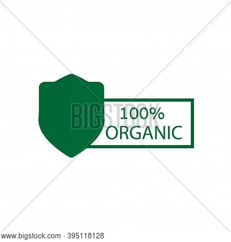 100 Organic Vector Icon On White Background. Organic Food.