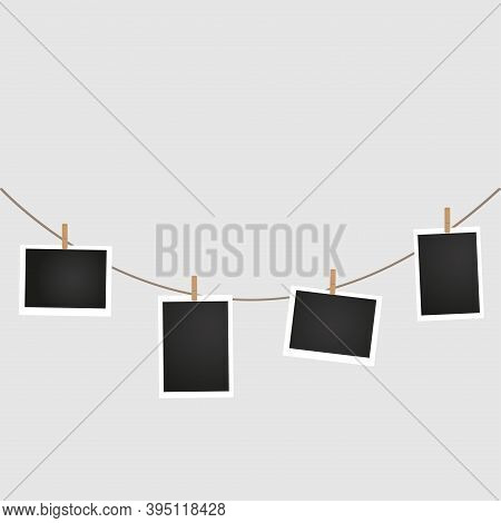 Hanging Photo Card. Photo Card Icons. Photo Album.