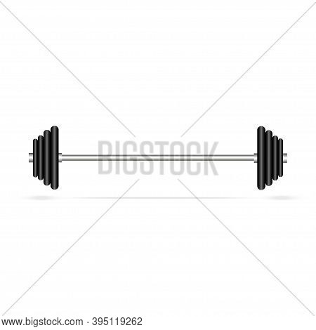 Barbell Icon, Isolated On White Background.gym Equipment.
