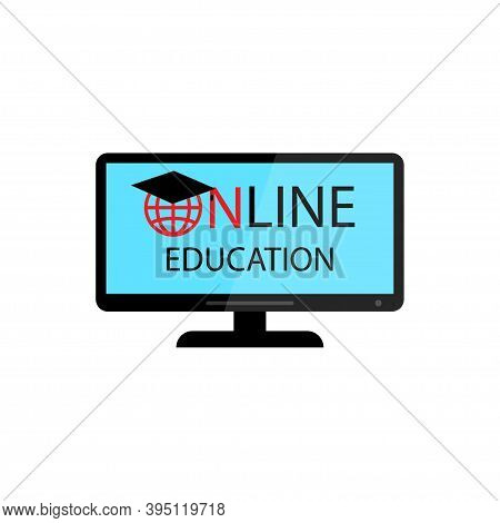 Online Education Screen Logo.icon For Web Design.